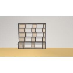 Bibliothèque (H141cm - L153 cm)