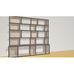 Bibliothèque (H141cm - L150 cm)