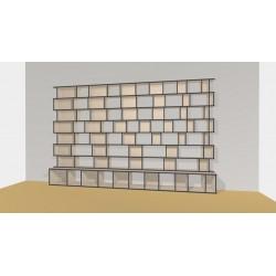 Bibliothèque (H227cm - L400 cm)