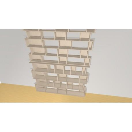 Bibliothèque (H275cm - L210 cm)