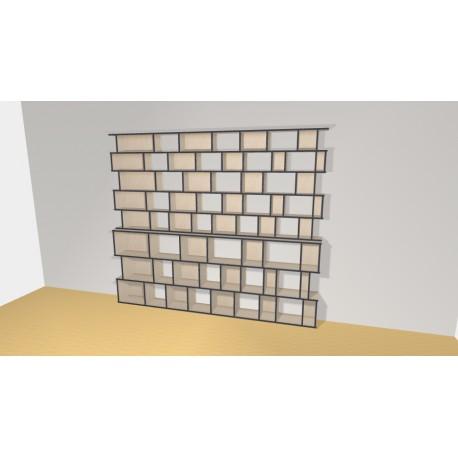 Bibliothèque (H239cm - L282 cm)