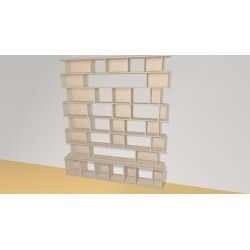 Bookshelf (H221cm - W191 cm)