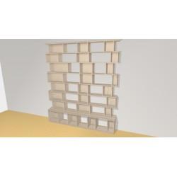 Bookshelf (H221cm - W193 cm)