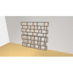 Bibliothèque (H218cm - L225 cm)