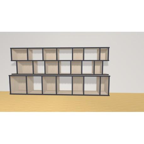 Bibliothèque (H90cm - L190 cm)