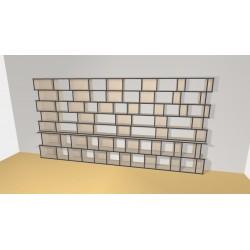 Bibliothèque (H209cm - L415 cm)