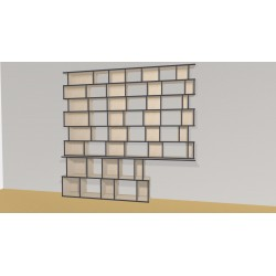 Bookshelf (H227cm - W260 cm)