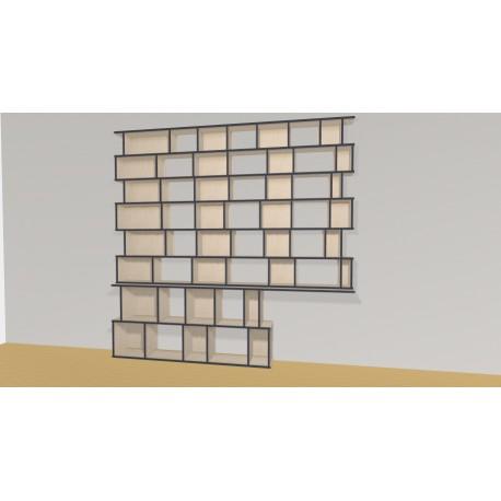 Bibliothèque (H227cm - L260 cm)