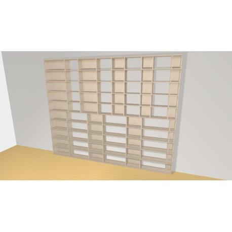 Bookshelf (H240cm - W300 cm)