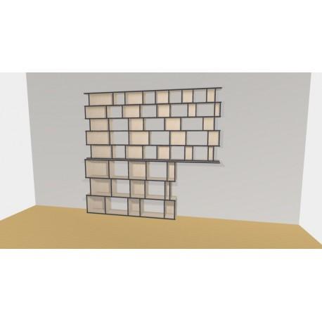 Bibliothèque (H236cm - L285 cm)