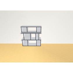 Bookshelf (H102cm - W96 cm)