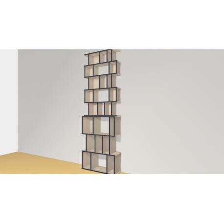 Bookshelf (H239cm - W77 cm)