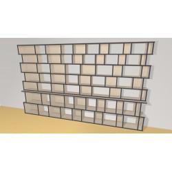 Bookshelf (H203cm - W340 cm)