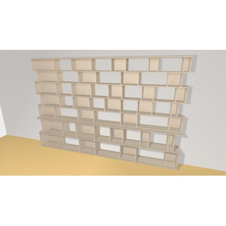 Bookshelf (H200cm - W312 cm)