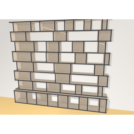 Bookshelf (H221cm - W253 cm)