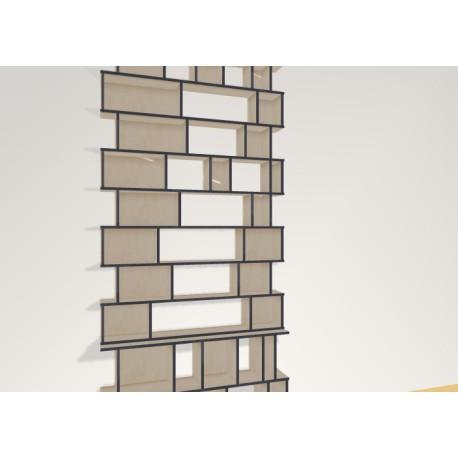 Bookshelf (H310cm - W140 cm)