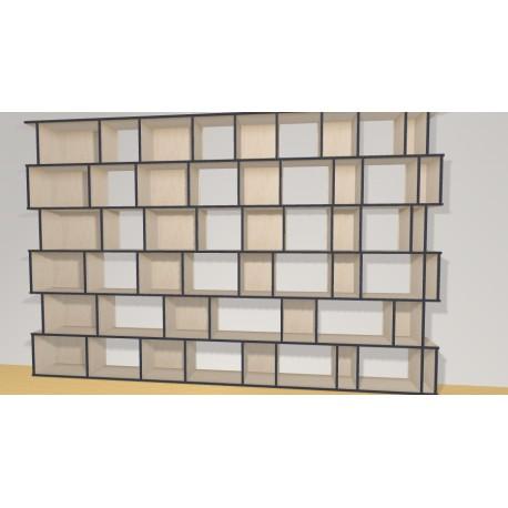 Bibliothèque (H217cm - L333 cm)