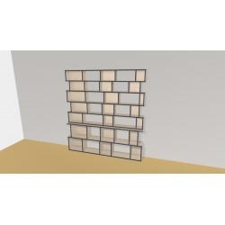 Bibliothèque (H203cm - L210 cm)