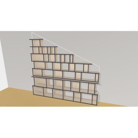 Bibliothèque (H203cm - L260 cm)