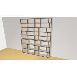 Bibliothèque (H245cm - L210 cm)