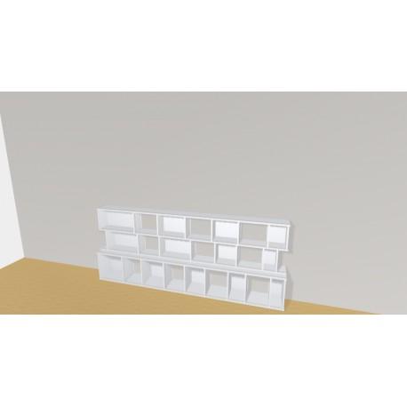 Bibliothèque (H93cm - L255 cm)