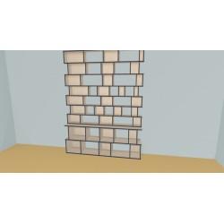 Bookshelf (H251cm - W210 cm)