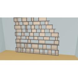 Bookshelf (H254cm - W350 cm)