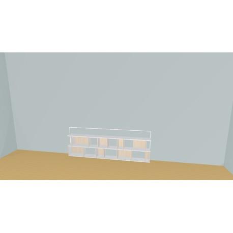 Bookshelf (H55cm - W230 cm)