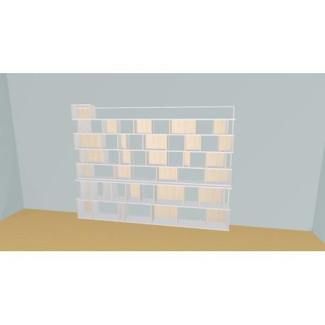 Bibliothèque (H203cm - L300 cm)