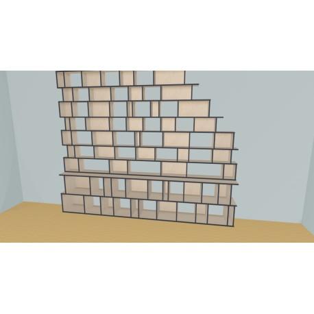 Bookshelf (H254cm - W345 cm)