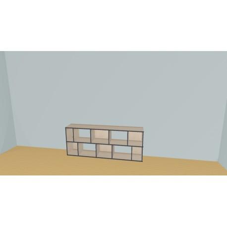 Bookshelf (H73cm - W210 cm)