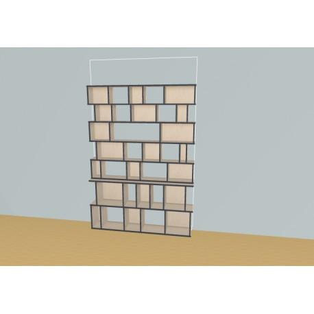 Bibliothèque (H203cm - L163 cm)