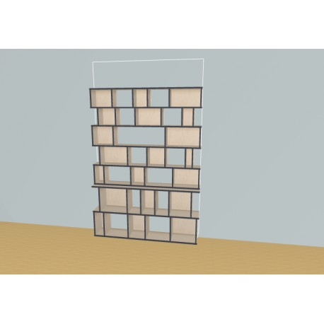 Bookshelf (H203cm - W163 cm)