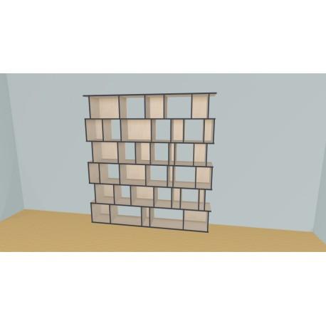 Bibliothèque (H217cm - L229 cm)