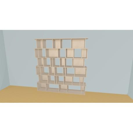 Bibliotheek (H217cm - B229 cm)