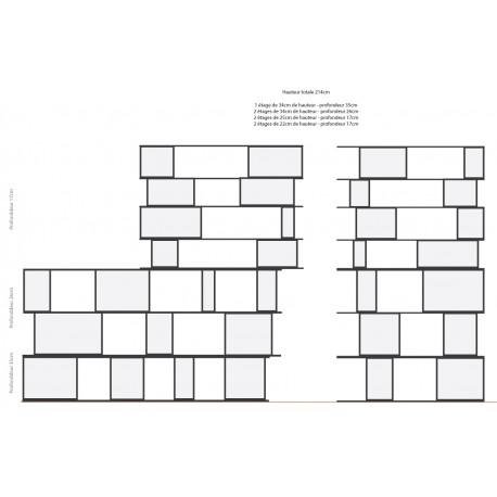 Bibliothèque (H150.8cm - L173 cm)