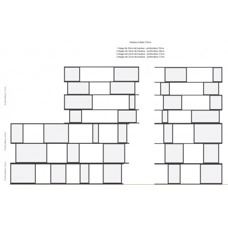 Bookshelf (H220cm - W110 cm)