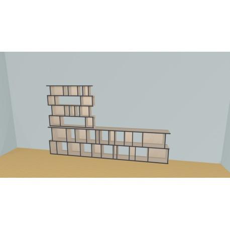 Bibliothèque (H176cm - L330 cm)