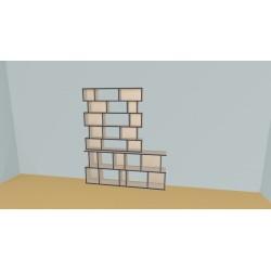 Bookshelf (H200cm - W189 cm)