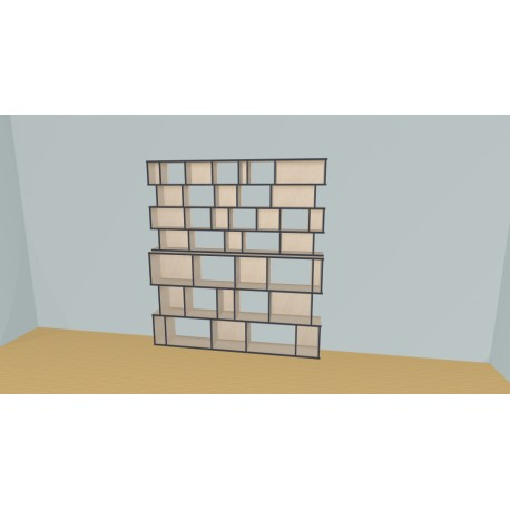Bookshelf (H206cm - W210 cm)