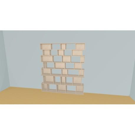 Bibliothèque (H203cm - L200 cm)