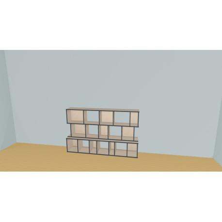 Bookshelf (H111cm - W201 cm)