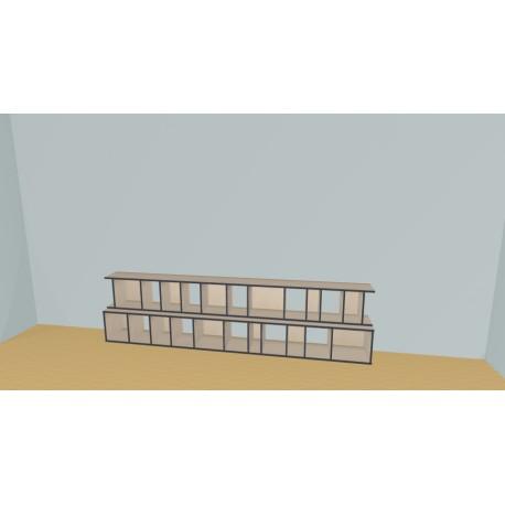 Bibliotheek (H75cm - B331 cm)