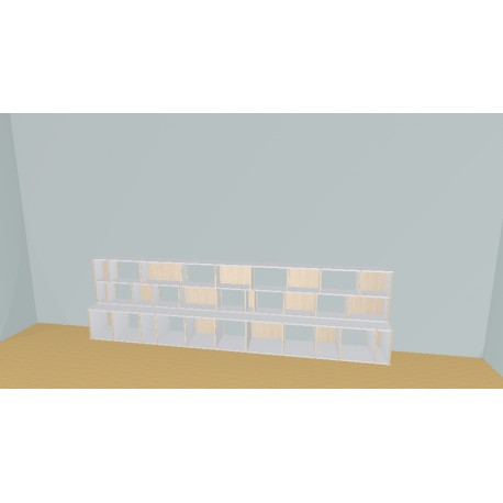 Bookshelf (H93cm - W374 cm)