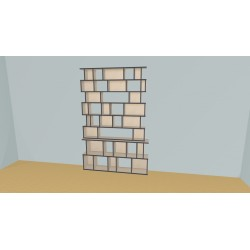 Bookshelf (H227cm - W166 cm)