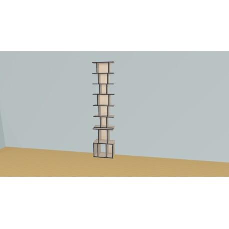 Bookshelf (H227cm - W51 cm)