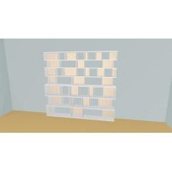Bibliothèque (H212cm - L254 cm)