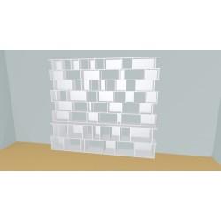 Bookshelf (H230cm - W296 cm)