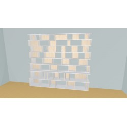 Bibliotheek (H230cm - B296 cm)