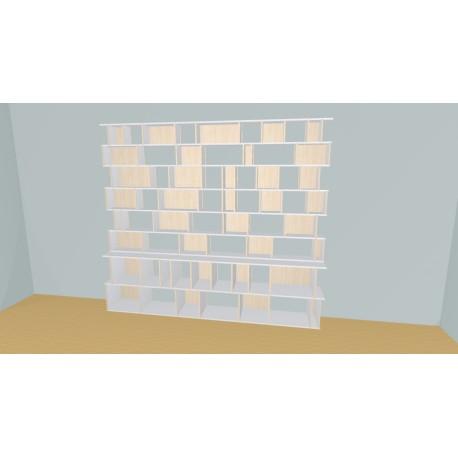 Bibliothèque (H230cm - L296 cm)